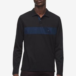 CK Men's Colorblocked Rugby Polo Shirt XL